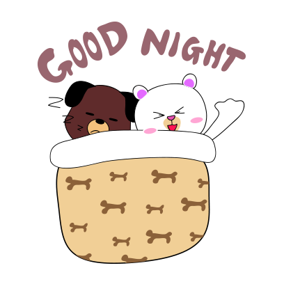 Milk and Chocolate dog sticker messages sticker-9