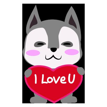 Husky dog emoji & sticker messages sticker-10