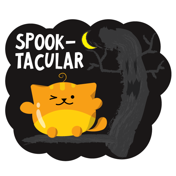 Mochi Halloween Stickers messages sticker-1
