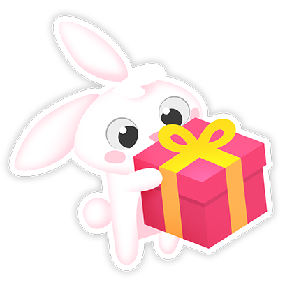 Greedy Bunnies messages sticker-8