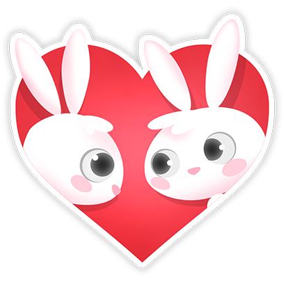 Greedy Bunnies messages sticker-0