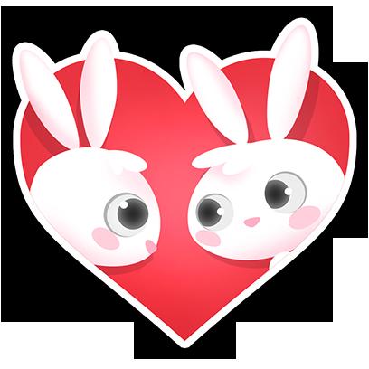 Greedy Bunnies messages sticker-0