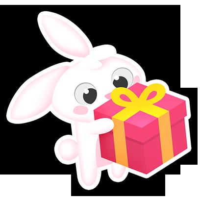 Greedy Bunnies messages sticker-4