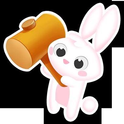 Greedy Bunnies messages sticker-9