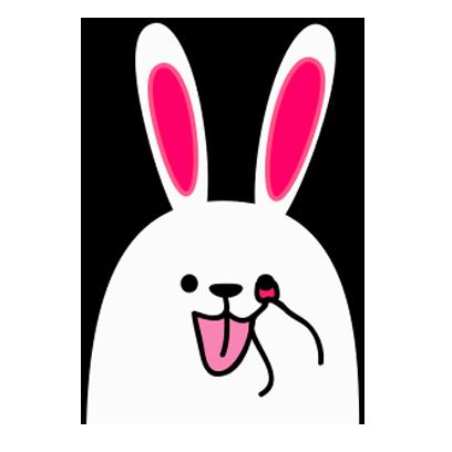 Lovely rabbit emoji messages sticker-8