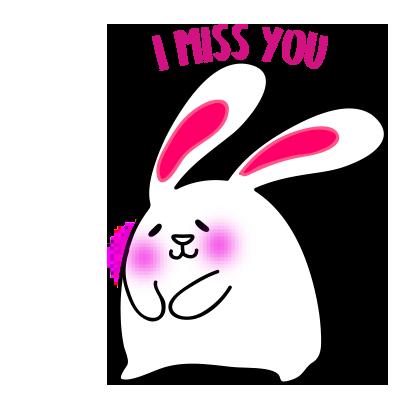Lovely rabbit emoji messages sticker-6