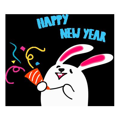 Lovely rabbit emoji messages sticker-5