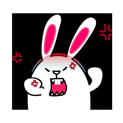 Lovely rabbit emoji messages sticker-3