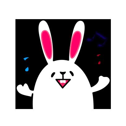 Lovely rabbit emoji messages sticker-2
