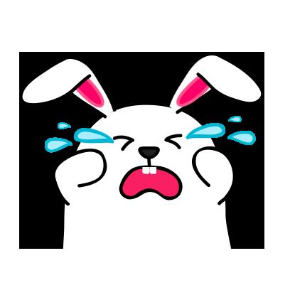 Lovely rabbit emoji messages sticker-4