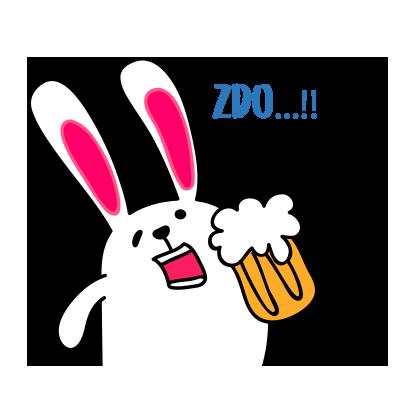 Lovely rabbit emoji messages sticker-10