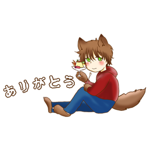 Kawaii Kemono Sticker messages sticker-7