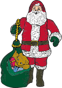Santa Claus Stickers: HoHoHo messages sticker-9