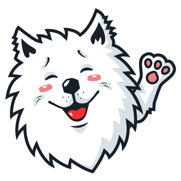 Samoyed Fram messages sticker-0
