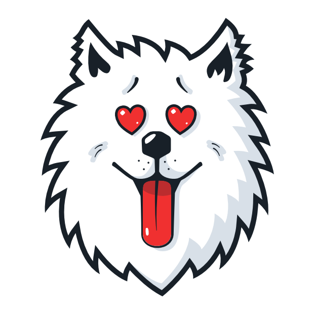 Samoyed Fram messages sticker-9