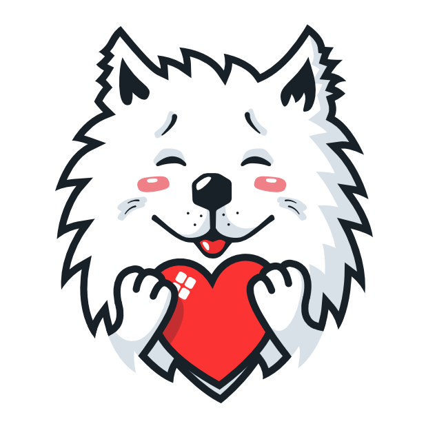 Samoyed Fram messages sticker-10