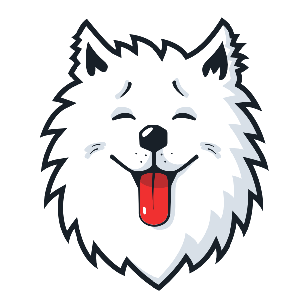 Samoyed Fram messages sticker-5