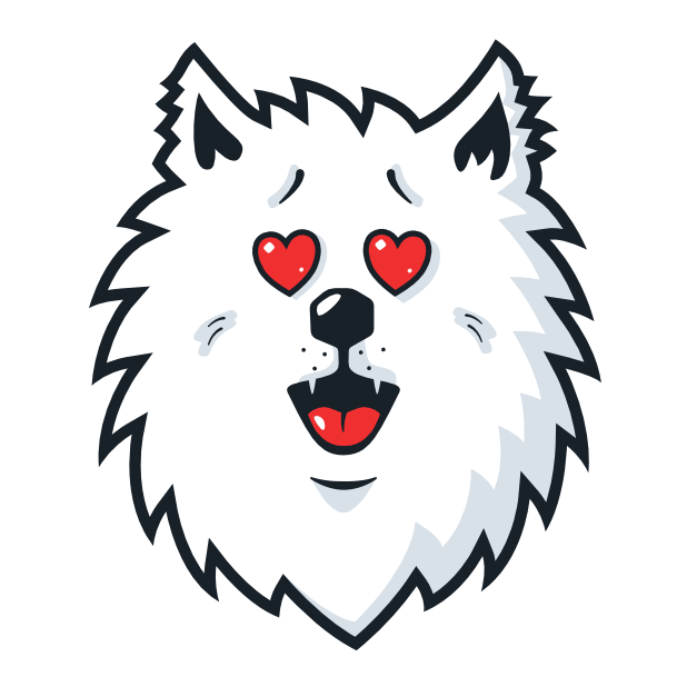 Samoyed Fram messages sticker-11
