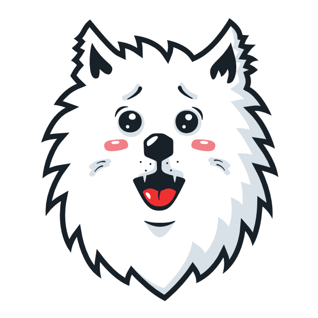 Samoyed Fram messages sticker-6