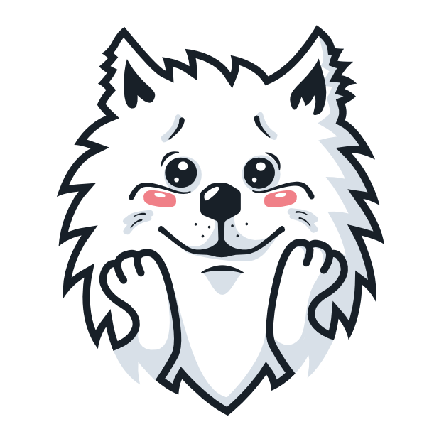 Samoyed Fram messages sticker-2