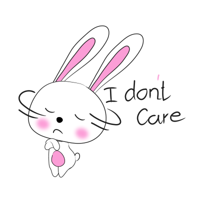 Cool rabbit sticker messages sticker-5