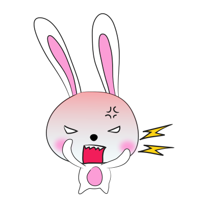 Cool rabbit sticker messages sticker-9