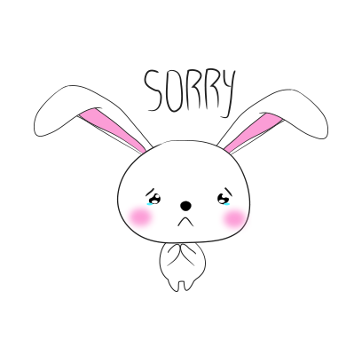 Cool rabbit sticker messages sticker-2