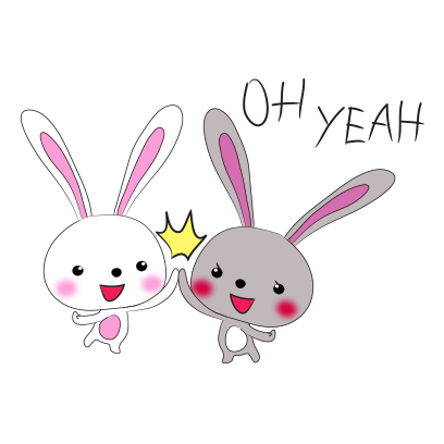 Cool rabbit sticker messages sticker-7