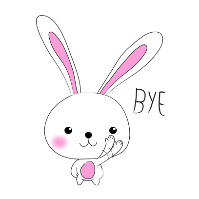 Cool rabbit sticker messages sticker-1