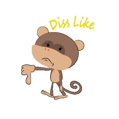 monkey emojis sticker messages sticker-9