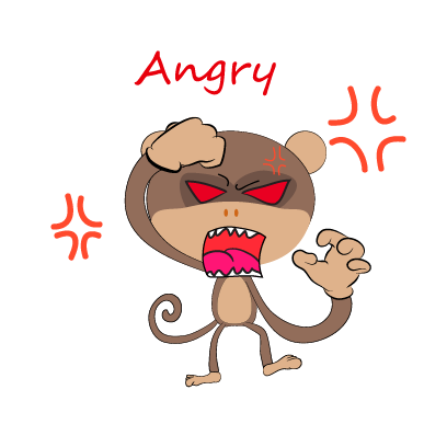 monkey emojis sticker messages sticker-3
