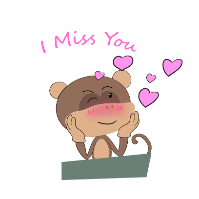 monkey emojis sticker messages sticker-6