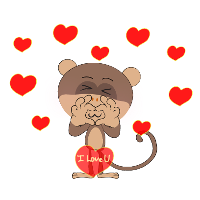 monkey emojis sticker messages sticker-5