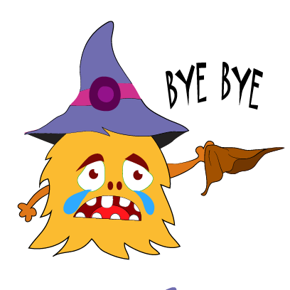 Color monster halloween messages sticker-1
