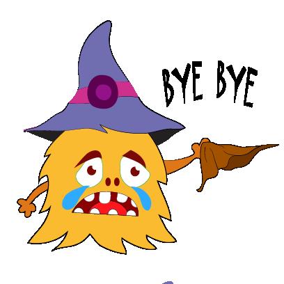 Color monster halloween messages sticker-1