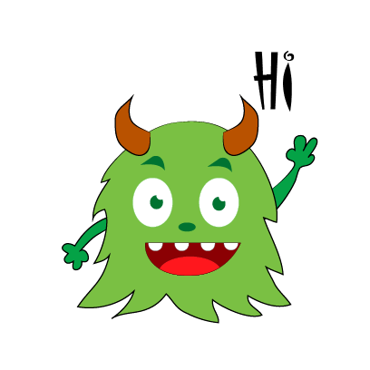 Color monster halloween messages sticker-0
