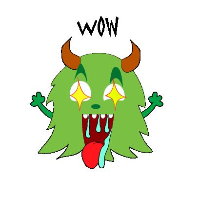 Color monster halloween messages sticker-10