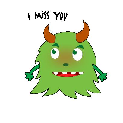 Color monster halloween messages sticker-4