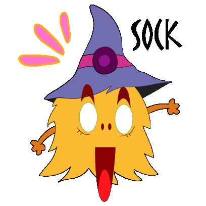 Color monster halloween messages sticker-11