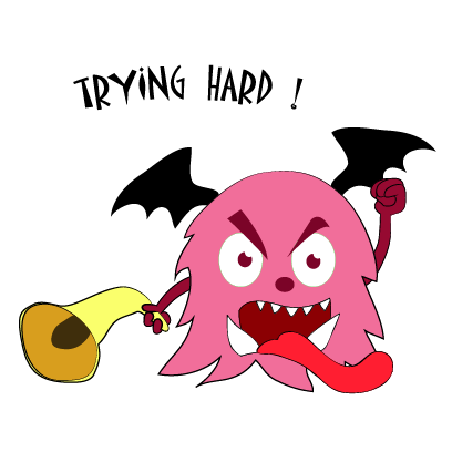 Color monster halloween messages sticker-3