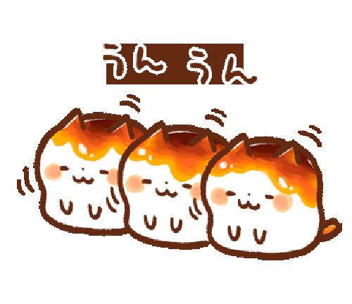みたらしにゃんこ messages sticker-4
