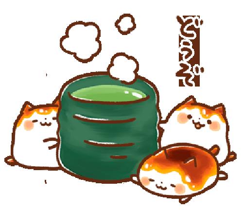 みたらしにゃんこ messages sticker-9