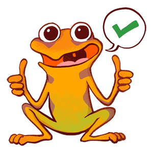 Orange Frog Sticker Pack messages sticker-1