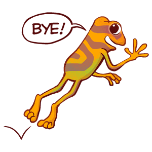 Orange Frog Sticker Pack messages sticker-6