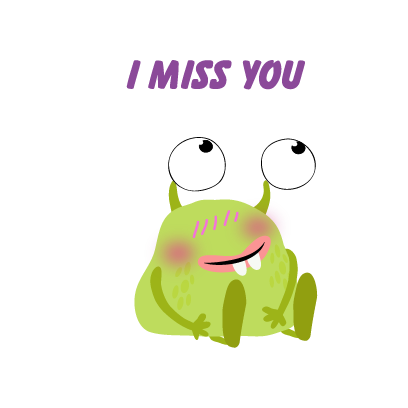 kid monster emoji 2 messages sticker-5
