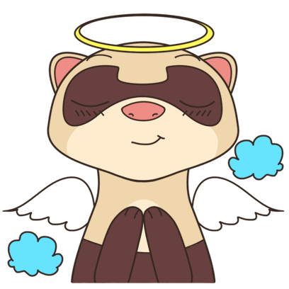 YouFerret - cute ferret animal messages sticker-7