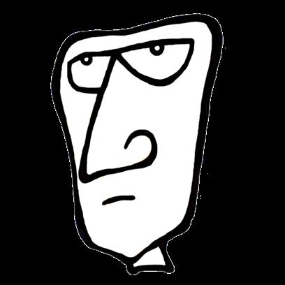 FACE UP® Sticker Studio B&W messages sticker-9