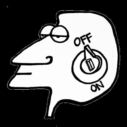 FACE UP® Sticker Studio B&W messages sticker-3