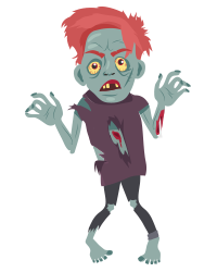 Scary Ghost n Zombie Stickers messages sticker-8