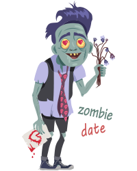 Scary Ghost n Zombie Stickers messages sticker-5